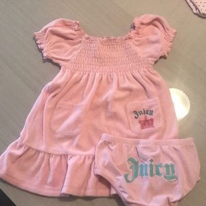 Juicy couture girls 2pc outfit 18/24 months
